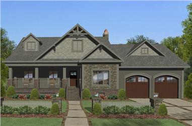 4-Bedroom, 1898 Sq Ft Cottage House Plan - 109-1195 - Front Exterior