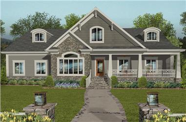 4-Bedroom, 2099 Sq Ft Cottage House Plan - 109-1196 - Front Exterior