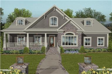 4-Bedroom, 2099 Sq Ft Cottage House Plan - 109-1197 - Front Exterior