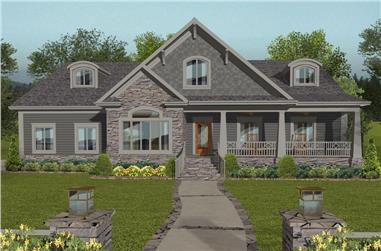 4-Bedroom, 2234 Sq Ft Cottage House Plan - 109-1198 - Front Exterior