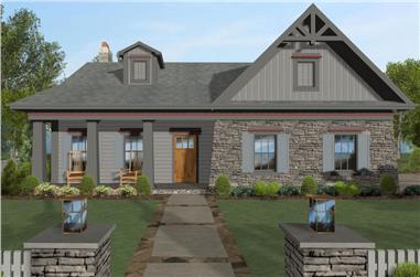 4-Bedroom, 1499 Sq Ft Cottage Home Plan - 109-1199 - Main Exterior