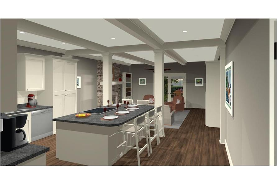 Kitchen of this 4-Bedroom,1671 Sq Ft Plan -1671
