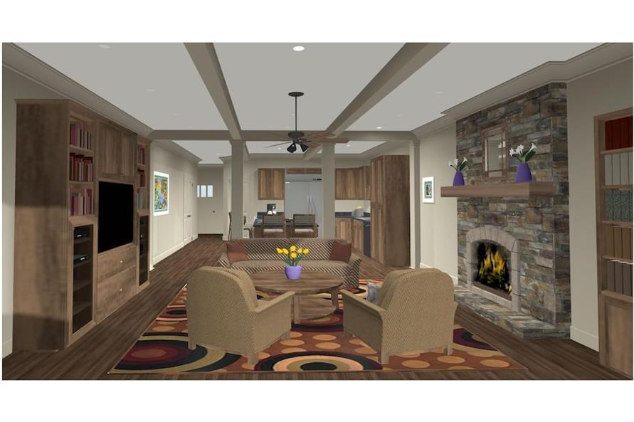 Family Room of this 4-Bedroom,1671 Sq Ft Plan -1671