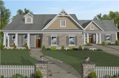4-Bedroom, 1671 Sq Ft Cottage House Plan - 109-1200 - Front Exterior
