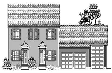 2-Bedroom, 2152 Sq Ft Multi-Level House Plan - 110-1003 - Front Exterior