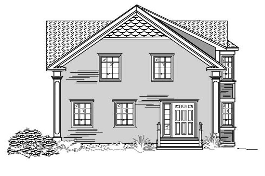 This is a black and white front elevation of these Craftsman Houseplans.