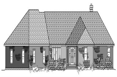 2-Bedroom, 2320 Sq Ft Ranch House Plan - 110-1006 - Front Exterior