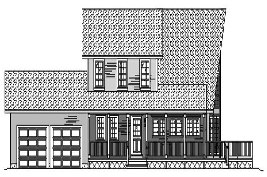 3-Bedroom, 1925 Sq Ft Contemporary House Plan - 110-1007 - Front Exterior