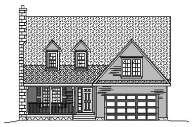 3-Bedroom, 2049 Sq Ft Cape Cod House Plan - 110-1016 - Front Exterior