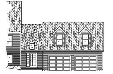 0-Bedroom, 537 Sq Ft Garage House Plan - 110-1020 - Front Exterior
