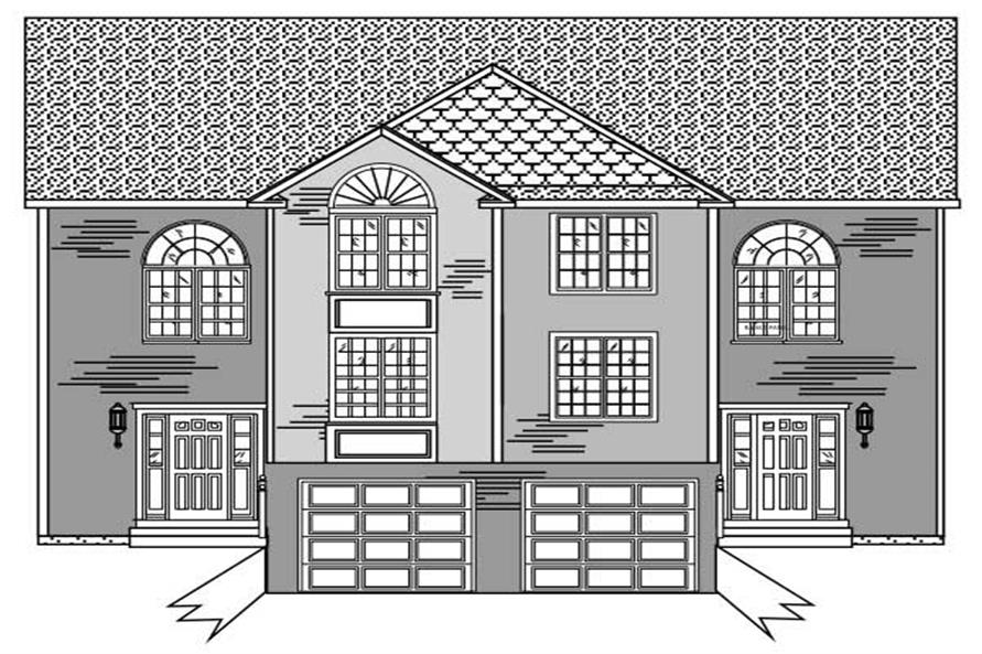 Multi unit home with 3 bedrms 3046 sq ft floor plan for Multi unit house plans
