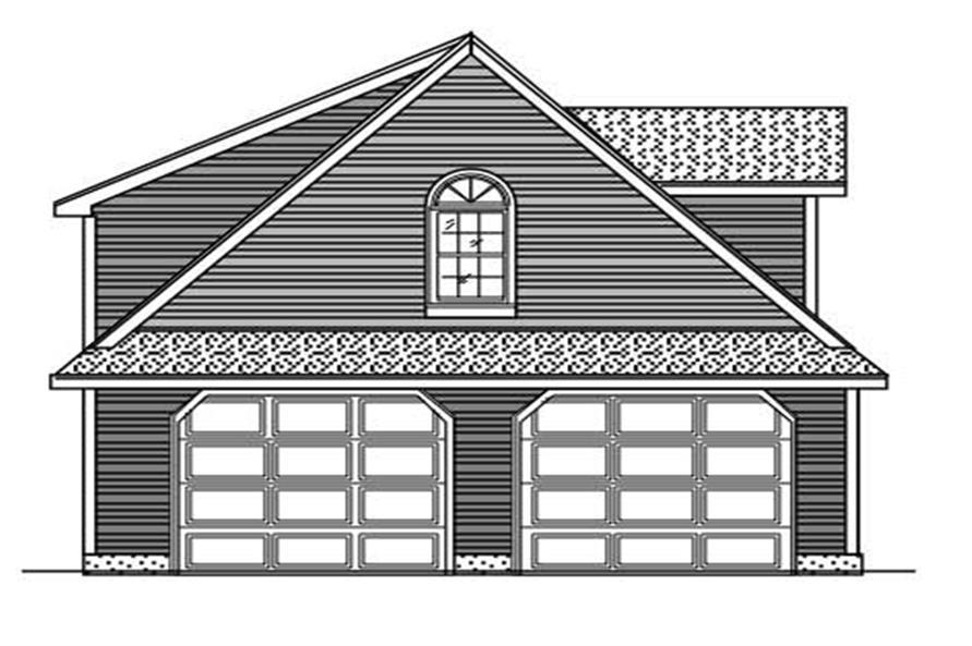 0-Bedroom, 640 Sq Ft Garage Home Plan - 110-1023 - Main Exterior