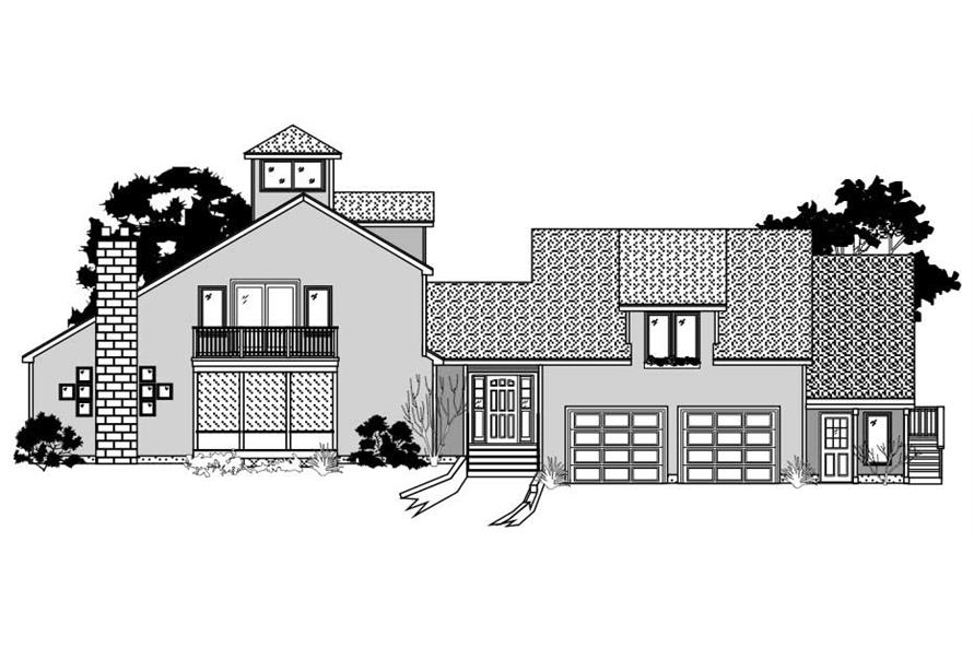 This image shows the Contemporary Style of these Houseplans.