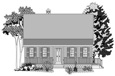 3-Bedroom, 1517 Sq Ft Country Home Plan - 110-1029 - Main Exterior