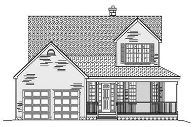 3-Bedroom, 2157 Sq Ft Cape Cod House Plan - 110-1033 - Front Exterior
