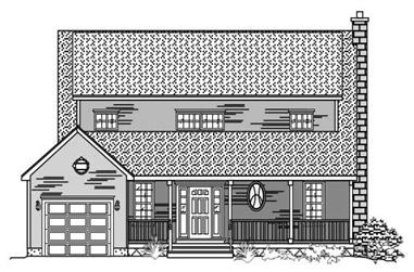 3-Bedroom, 2127 Sq Ft Country Home Plan - 110-1034 - Main Exterior