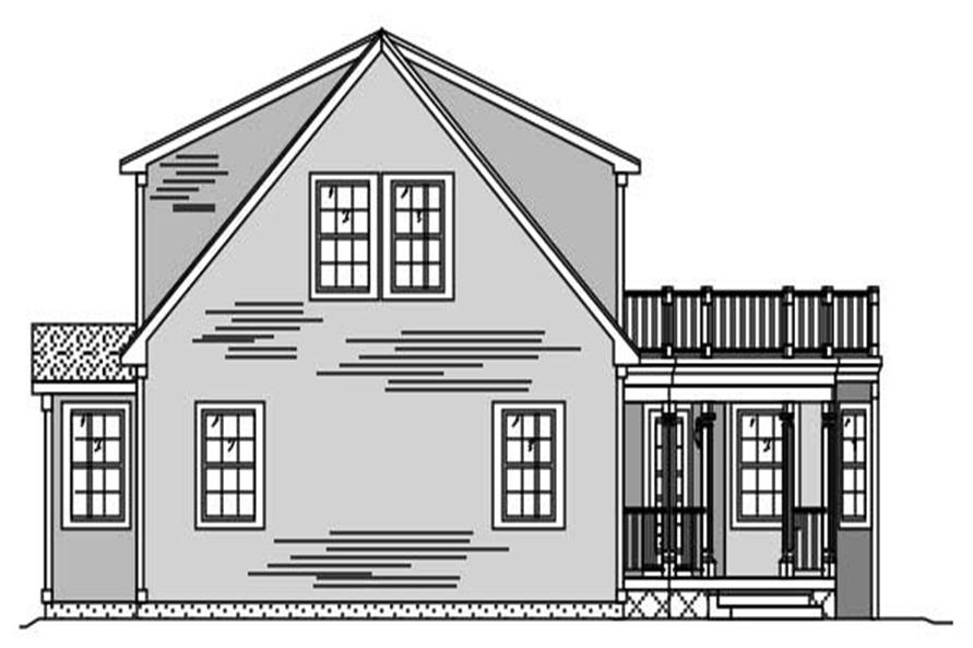 This is a black and white elevation of these Unique Houseplans.