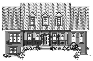 5-Bedroom, 3897 Sq Ft Country Home Plan - 110-1036 - Main Exterior