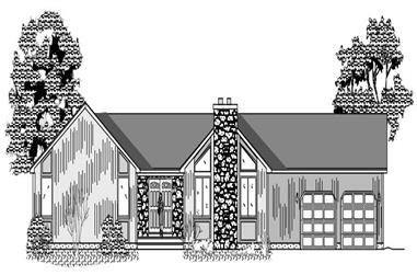4-Bedroom, 1855 Sq Ft Contemporary House Plan - 110-1037 - Front Exterior