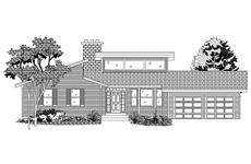 This is the front elevation of these Contemporary House Plans.