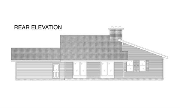 110-1038 house plan rear elevation