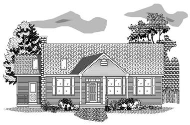2-Bedroom, 2218 Sq Ft Ranch House Plan - 110-1040 - Front Exterior