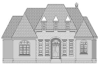 2-Bedroom, 2631 Sq Ft European House Plan - 110-1042 - Front Exterior