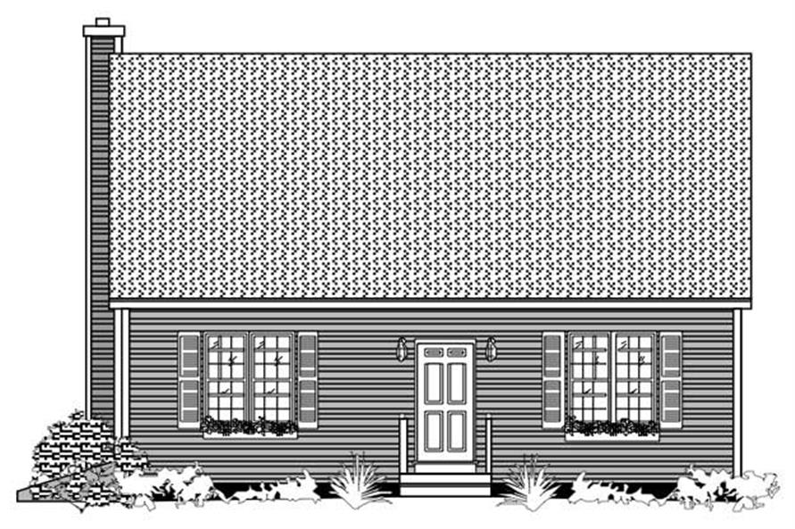 This is the black and white rendering of these Small Homeplans.