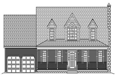 4-Bedroom, 2557 Sq Ft Country Home Plan - 110-1045 - Main Exterior