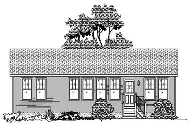 2-Bedroom, 1152 Sq Ft Ranch House Plan - 110-1047 - Front Exterior