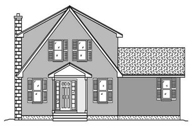 3-Bedroom, 2501 Sq Ft Contemporary Home Plan - 110-1049 - Main Exterior
