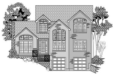 3-Bedroom, 2540 Sq Ft Country Home Plan - 110-1051 - Main Exterior
