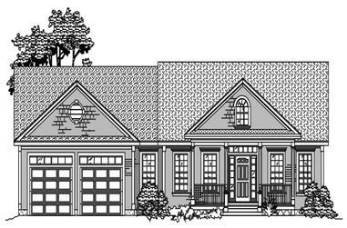 3-Bedroom, 1853 Sq Ft Craftsman House Plan - 110-1052 - Front Exterior