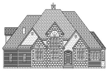 4-Bedroom, 4364 Sq Ft European House Plan - 110-1053 - Front Exterior