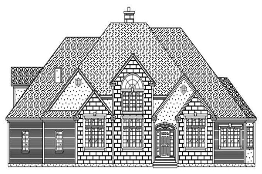This is a front elevation for these European Home Plans.