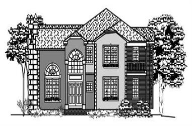 4-Bedroom, 3643 Sq Ft European House Plan - 110-1054 - Front Exterior