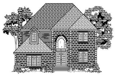 4-Bedroom, 2598 Sq Ft European Home Plan - 110-1055 - Main Exterior