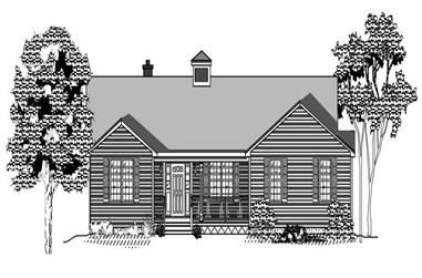 3-Bedroom, 2218 Sq Ft Ranch House Plan - 110-1057 - Front Exterior