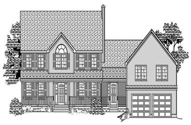 4-Bedroom, 2310 Sq Ft Country House Plan - 110-1059 - Front Exterior
