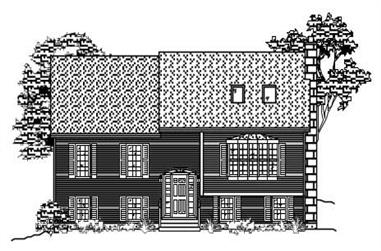 3-Bedroom, 1912 Sq Ft Multi-Level House Plan - 110-1061 - Front Exterior