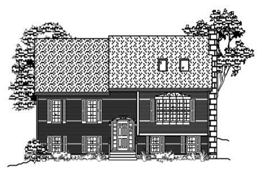 This is the front elevation for these Multi-Level Homeplans.