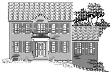 3-Bedroom, 2084 Sq Ft Colonial House Plan - 110-1062 - Front Exterior