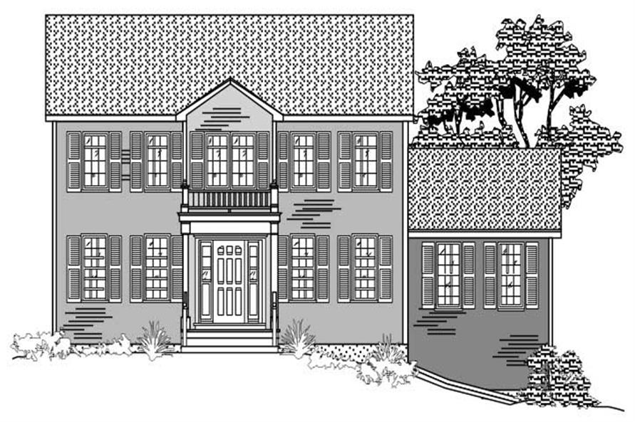 Black and white never looked so good until you've seen these Colonial House Plans.