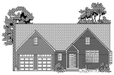 2-Bedroom, 2158 Sq Ft Cape Cod Home Plan - 110-1065 - Main Exterior