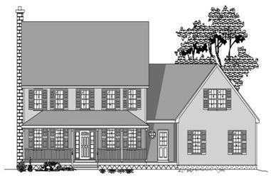 4-Bedroom, 2970 Sq Ft Country House Plan - 110-1066 - Front Exterior