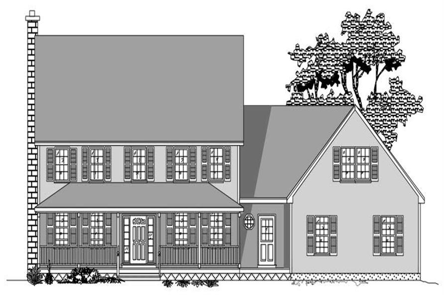 This images shows the front elevation of these Country Homeplans.