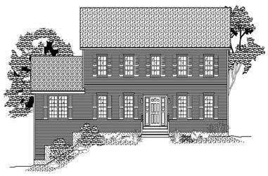 3-Bedroom, 2542 Sq Ft Colonial Home Plan - 110-1067 - Main Exterior