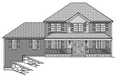 4-Bedroom, 2370 Sq Ft European House Plan - 110-1069 - Front Exterior