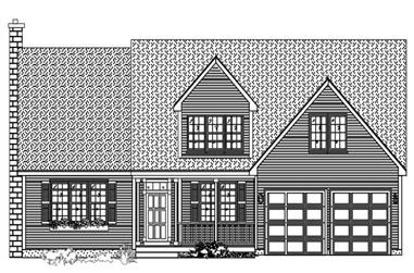 4-Bedroom, 2816 Sq Ft Country House Plan - 110-1070 - Front Exterior