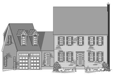 4-Bedroom, 2666 Sq Ft Country Home Plan - 110-1071 - Main Exterior